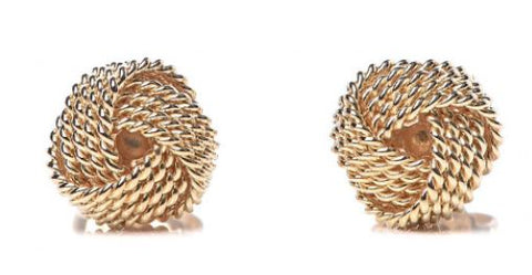 14k Yellow Gold Solid Knot Earrings