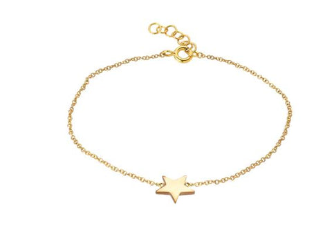 14k Yellow Gold Star Ankle Bracelet