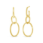 14k Yellow Gold Tubular Drop Earrings - from Holsten Jewelers
