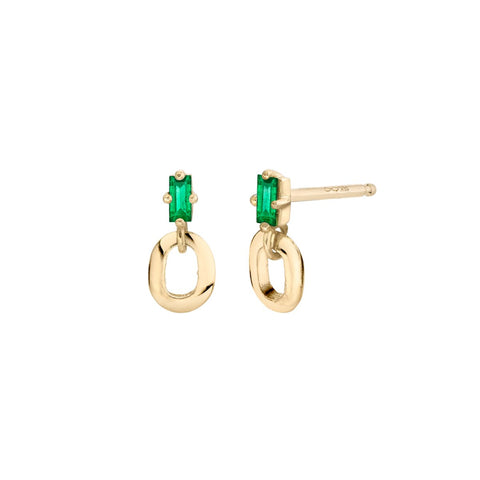 18K XS Link and Baguette Studs