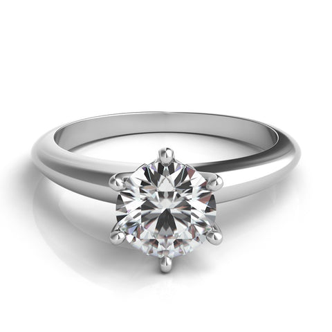 Platinum Knife Edge Solitaire Remount - from Holsten Jewelers