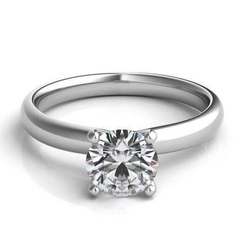 Platinum Solitaire with Integrated Head Remount - from Holsten Jewelers