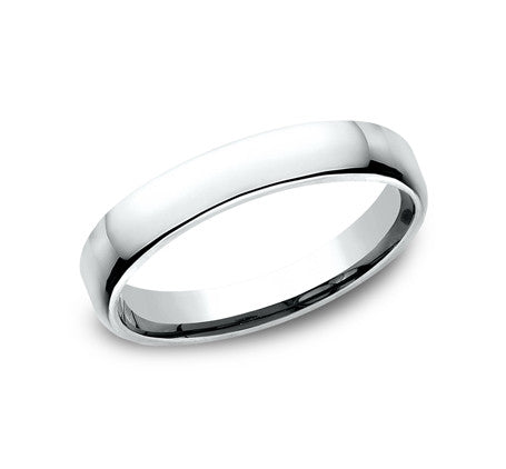 14k White Gold 3.5mm Euro Comfort Wedding Band - from Holsten Jewelers