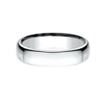 14k White Gold  4.5mm Comfort Fit Wedding Band - from Holsten Jewelers