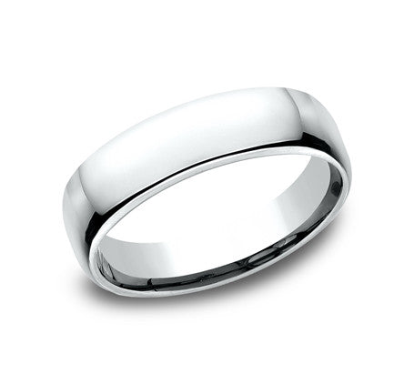14k White Gold 5.5mm Comfort Fit Wedding Band Size 8 - from Holsten Jewelers