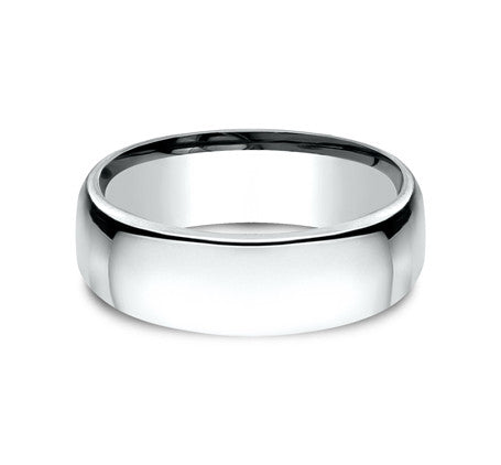 14k White Gold  7.5mm Comfort Fit Wedding Band - from Holsten Jewelers