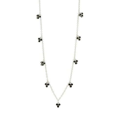 "Frieda Rothman Industrial Finish 3 Point Charm 36"" Necklace - from Holsten Jewelers"
