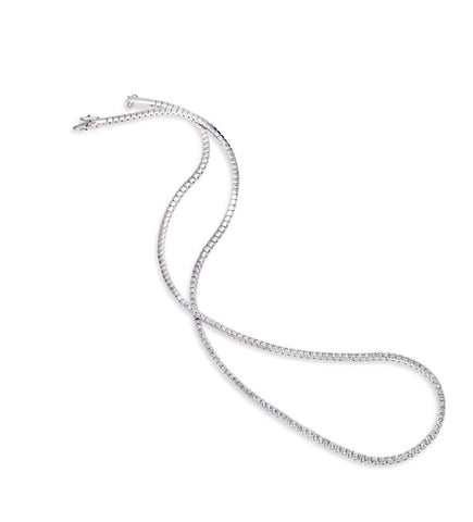 14k White Gold Diamond Riviera  Necklace - from Holsten Jewelers