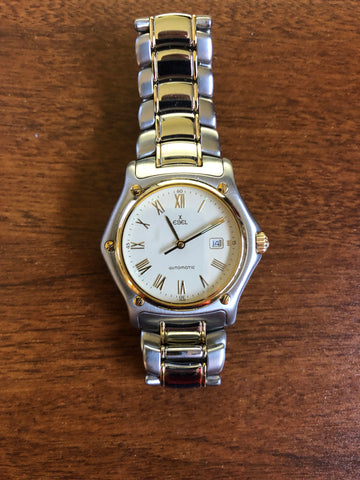Preowned Mens Stainless and 18k Yellow Gold Ebel 1911 Automatic Bracelet Watch - from Holsten Jewelers