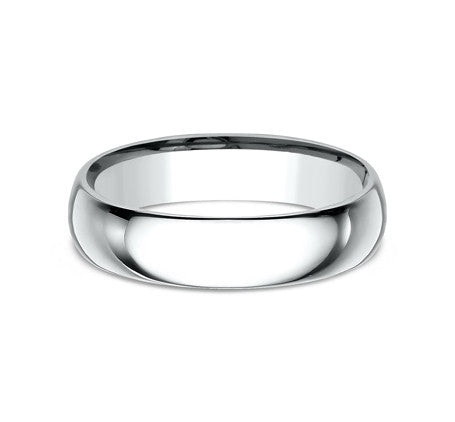 14k White Gold  5mm Comfort Fit Wedding Band Size 8 - from Holsten Jewelers