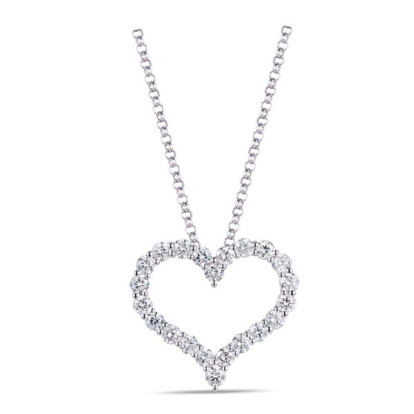 14k white gold open diamond heart pendant necklace holsten jewelers 14k white gold open diamond heart pendant necklace from holsten jewelers aloadofball Images