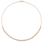 18K Mixed XS Knife Edge Oval Link Cable Chain