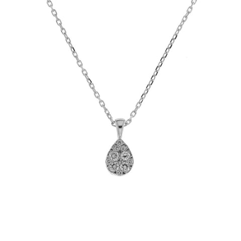 Diamond Pear Cluster Pendant - from Holsten Jewelers