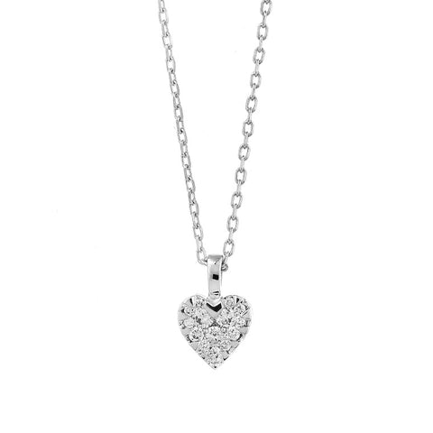 Diamond Heart Cluster Pendant - from Holsten Jewelers