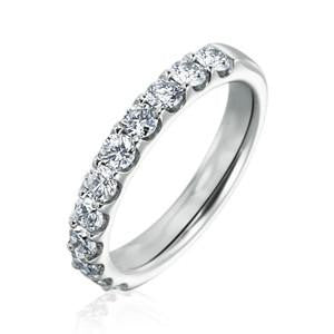 14kt White Gold and Diamond Wedding Band 11 Stones - from Holsten Jewelers