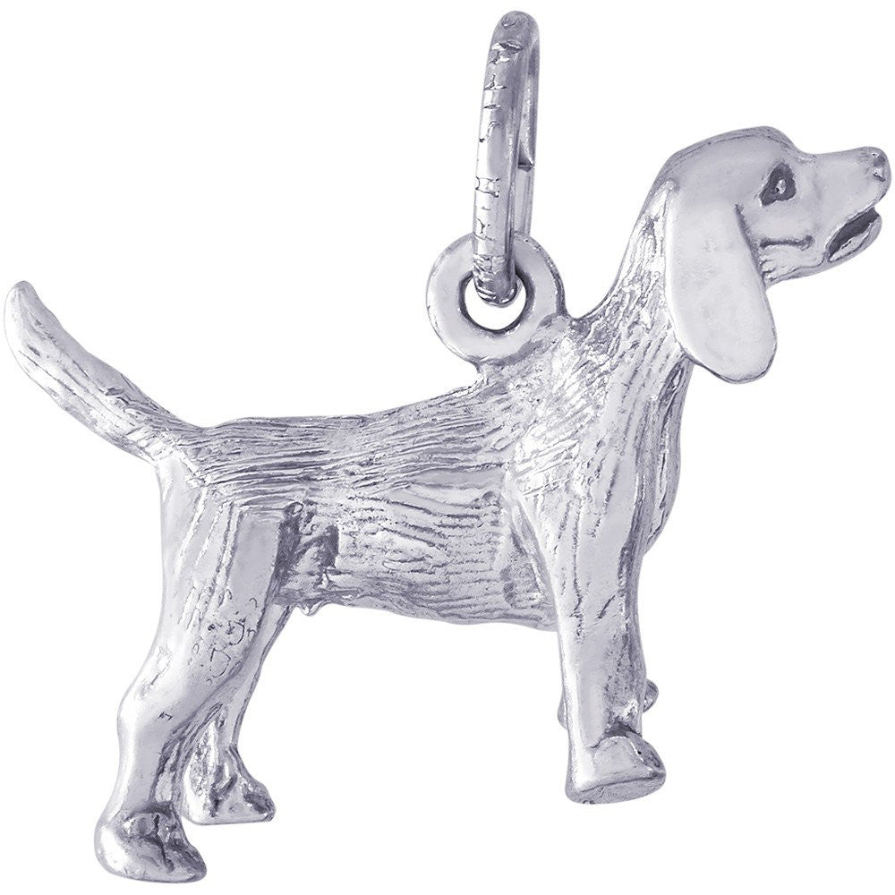 Beagle Dog Charm - from Holsten Jewelers