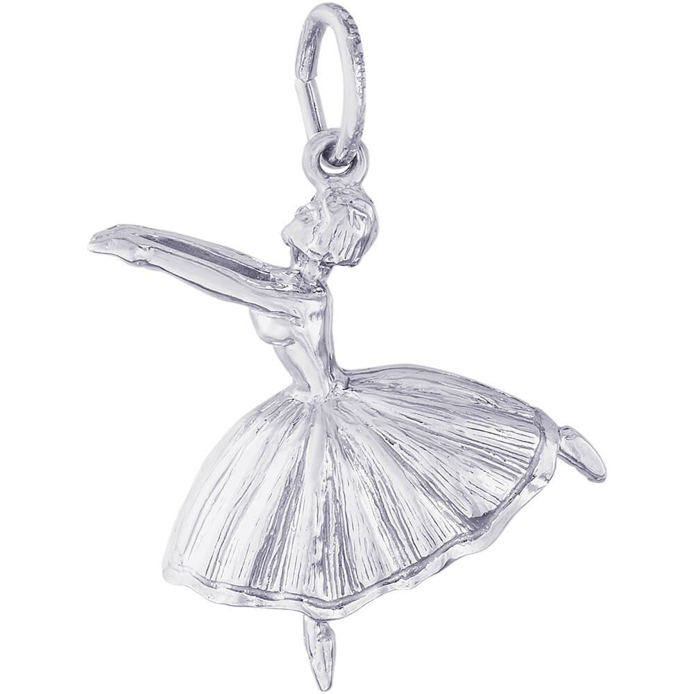 Ballet Dancer With Skirt Charm - from Holsten Jewelers