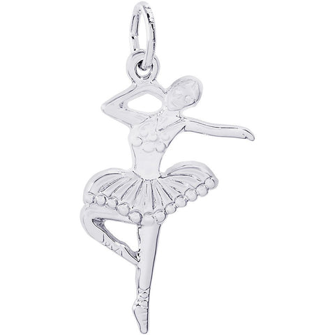 Sterling Silver Ballet Dancer With Tutu Charm - from Holsten Jewelers