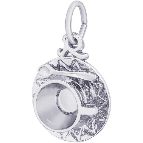 Sterling Silver Cup & Saucer Charm - from Holsten Jewelers