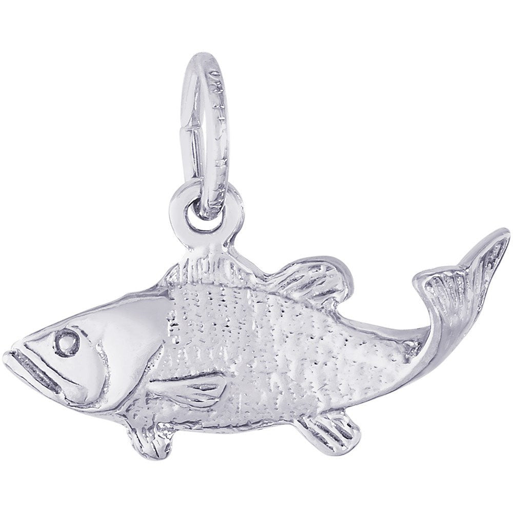 Bass Fish Charm - from Holsten Jewelers