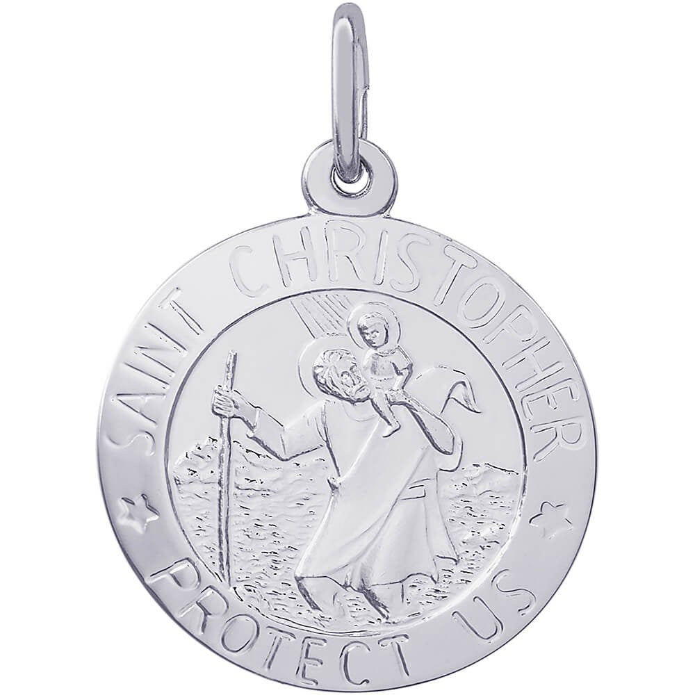 St. Christopher Disc Charm - from Holsten Jewelers