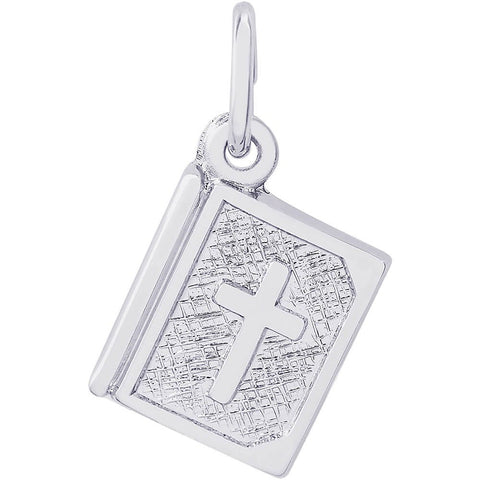 Sterling Silver Bible Accent Charm - from Holsten Jewelers