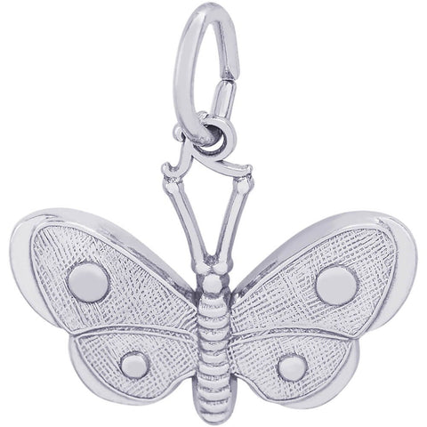 Sterling Silver Spotted Wings Butterfly Charm - from Holsten Jewelers