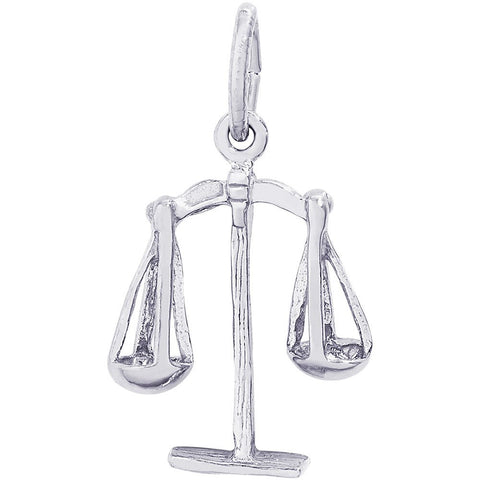 Sterling Silver Scales Of Justice Charm - from Holsten Jewelers