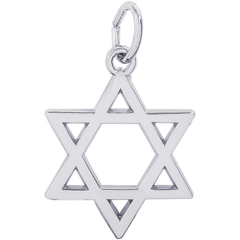 Sterling Silver Star Of David Charm - from Holsten Jewelers