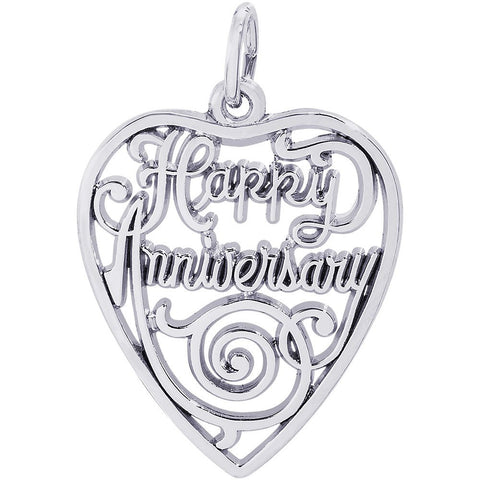 Happy Anniversary Heart Charm - from Holsten Jewelers