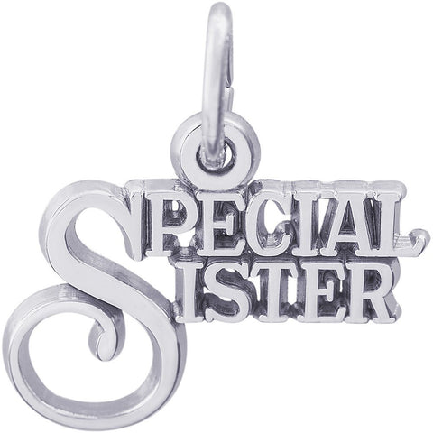 Sterling Silver Special Sister Charm - from Holsten Jewelers