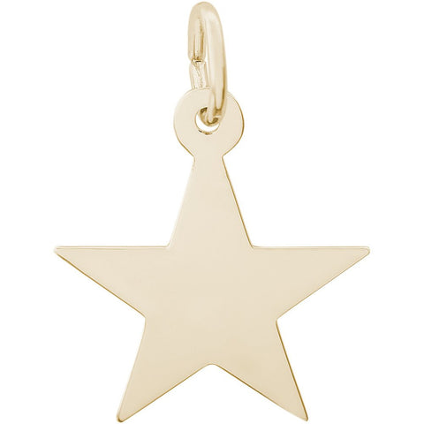 14k Yellow Gold Star Charm - from Holsten Jewelers