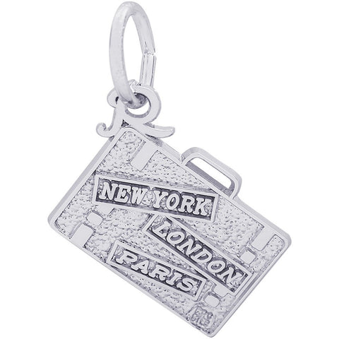 New York, London, Paris, Suitcase Charm - from Holsten Jewelers