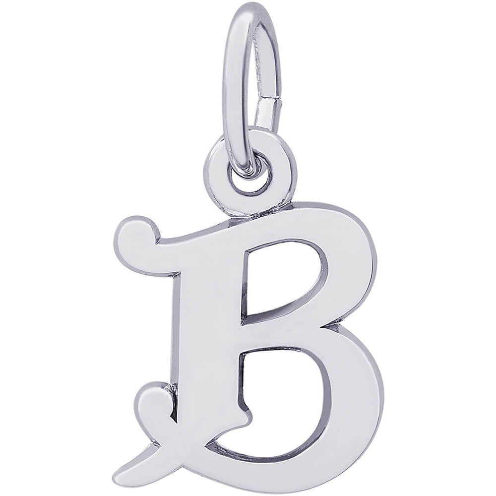 Curly Initial B Accent Charm - from Holsten Jewelers