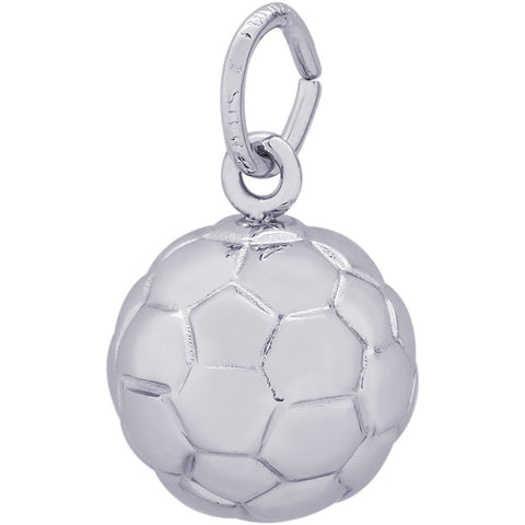 Sterling Silver Soccer Ball Charm - from Holsten Jewelers