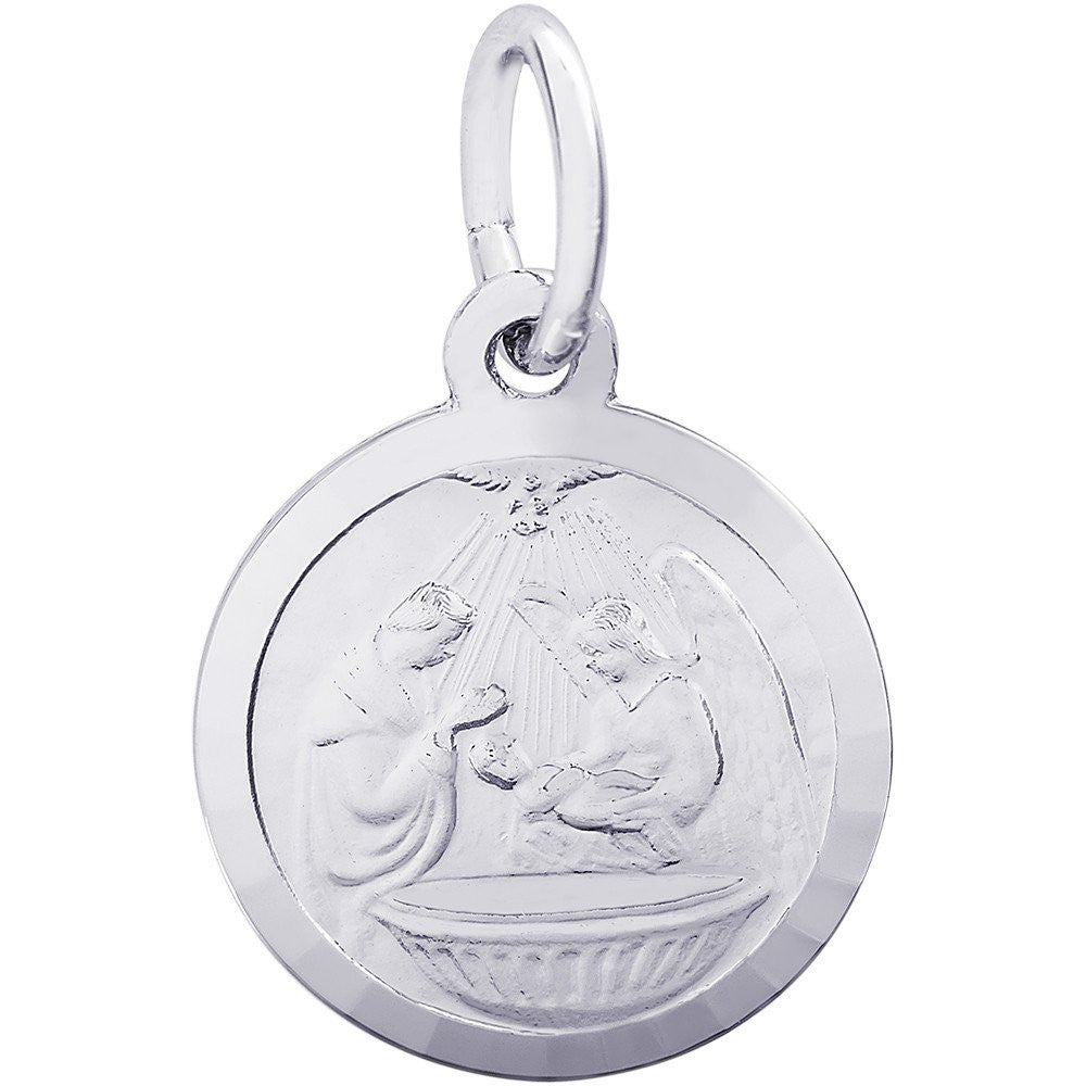 Baptism Disc Charm - from Holsten Jewelers