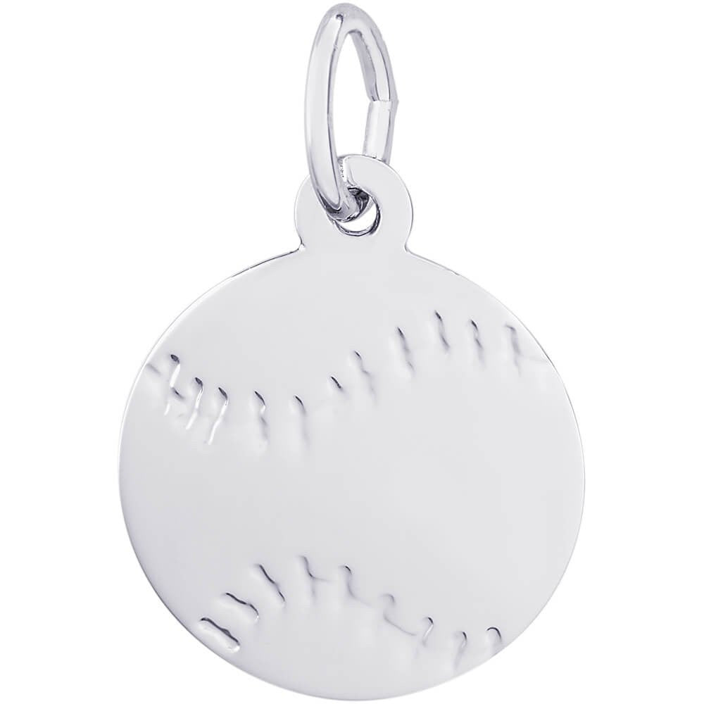 Flat Baseball Charm - from Holsten Jewelers
