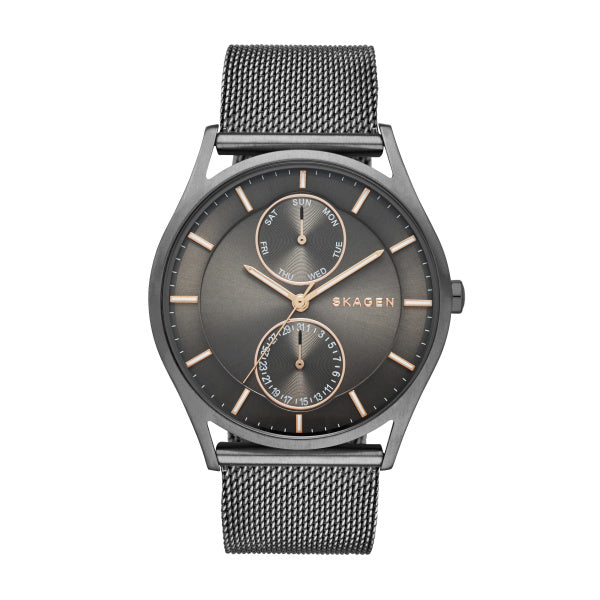 Holst Gray Steel-Mesh Multifunction Watch