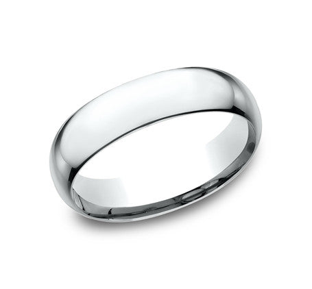 14k White Gold 6mm Comfort Fit Wedding Band Size 8 - from Holsten Jewelers