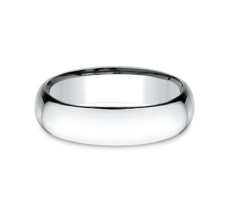 14k White Gold  6mm Comfort Fit Wedding Band - from Holsten Jewelers
