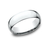 14k White Gold  7mm Comfort Fit Wedding Band - from Holsten Jewelers