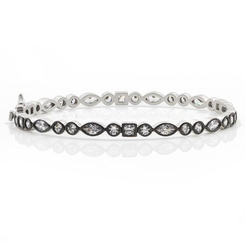 Frieda Rothman Signature Mixed Shape Bangle - from Holsten Jewelers