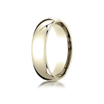 14k Yellow Gold 6mm Comfort Fit Milgrain Edge Wedding Band Size 9 - from Holsten Jewelers