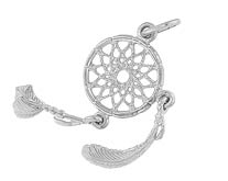 Sterling Silver Dream Catcher Charm