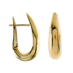 14k Yellow Gold Tapered Hoop Earrings - from Holsten Jewelers