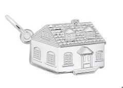 Sterling Silver Satin House Charm