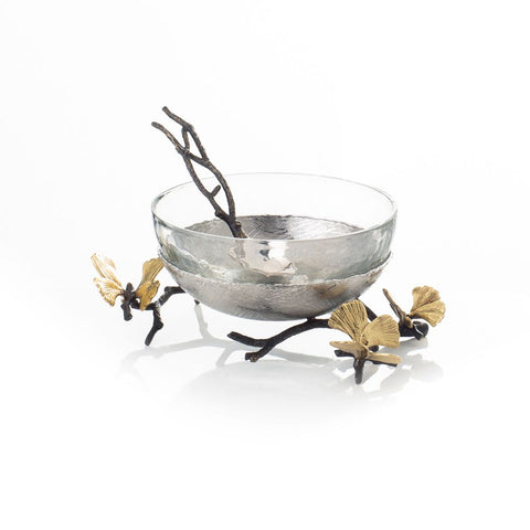 Butterfly Gingko Nut Dish with Spoon - from Holsten Jewelers