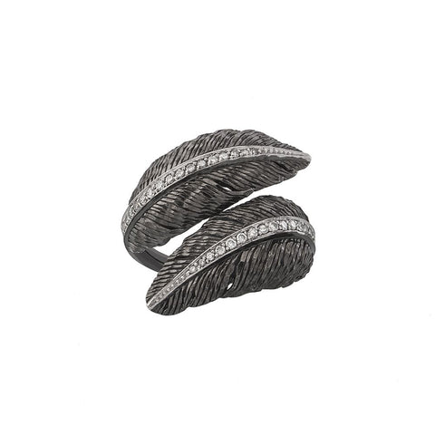 Feather Bypass Ring - from Holsten Jewelers