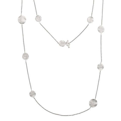 "Botanical Leaf 36"" Station Necklace - from Holsten Jewelers"