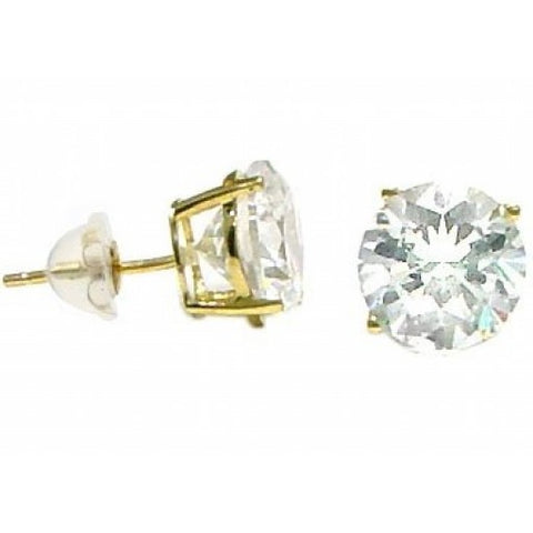 14K 2.5MM Round CZ Earrings